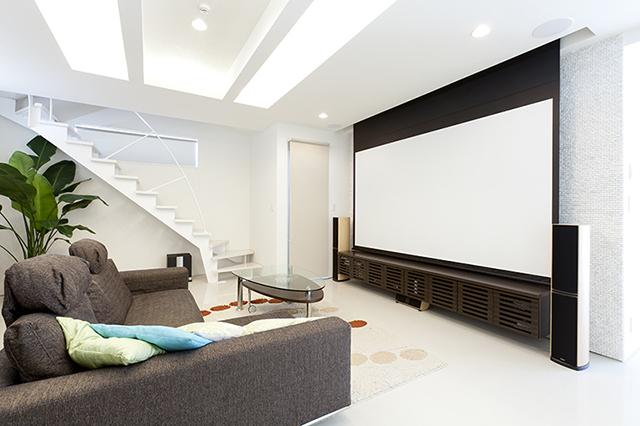 ホームシアターのある家 イメージ