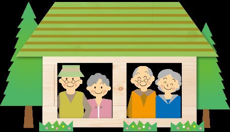 イラスト:家族と住宅