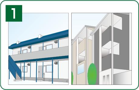 イラスト:防火地域の専用住宅例